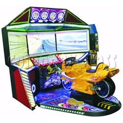 3D Triple Screen Motorbike Racing Simulator