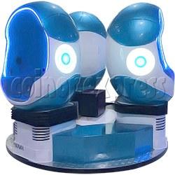 9D Virtual Cinema Virtual Reality Gaming Simulator (Three players)