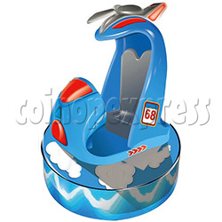 Fighting Jet Kiddie Ride with Mini Video Game For 2 players