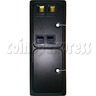 Double Insertion Coin Door with Mechanical Roll Down Coin Mech