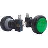 46mm Round Illuminated Push Button (black body)
