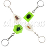 Fluorescence platic stone Key Rings
