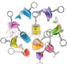 Colorful Liquid Key Rings