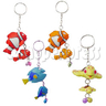 Rubber Ocean Fish Key Rings