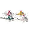 Mini Helicopter Light-up Key Rings