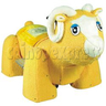 Yellow Sheep Walking Animal