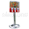 Metal Triple Head Candy Vending Machine With Steel Stand