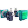33mm Square Illuminated Push Button - Color Body with Color Top