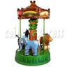 Mini Jungle Carousel Kiddie Ride (3 Players)