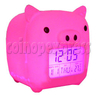 Piggy LCD digital alarm clock (7 colors change circularly)