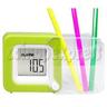 Mini LCD Digital Alarm Clock with Folding Penholder