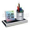 7 colors changing LED digital alarm clock with penholder