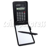 8 Digital Calculator with Leather Notebook and Pen