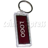 Big Solar Power Flashing LOGO Sticker with Keyring