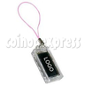 Small Solar Power Flashing LOGO Sticker with Keyring