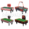 Typical air hockey tables
