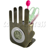 LCD Digital Alarm Clock in Hand shaped and with Pen Holder