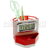 LCD Digital Alarm Clock with Rotated Pen Holder