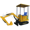 90 Degree Electric Excavator Motorized Kiddie Ride