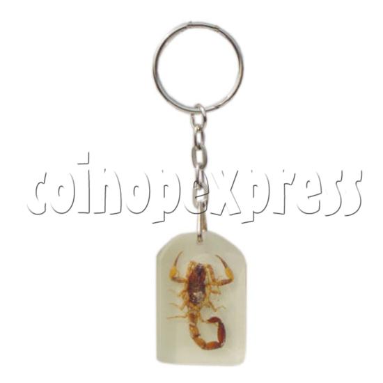 Fluorescence platic stone Key Rings 10271