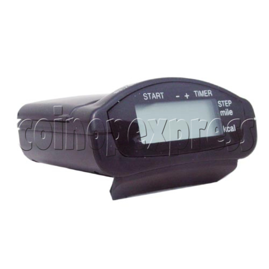 Convenient Pulse Pedometer with Clock Timers 10383