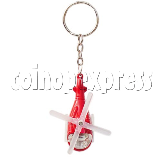 Mini Helicopter Light-up Key Rings 10625