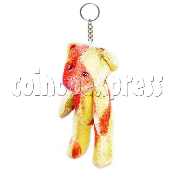 """3"""" Coloured Patchwork Teddy Bear 10696"""