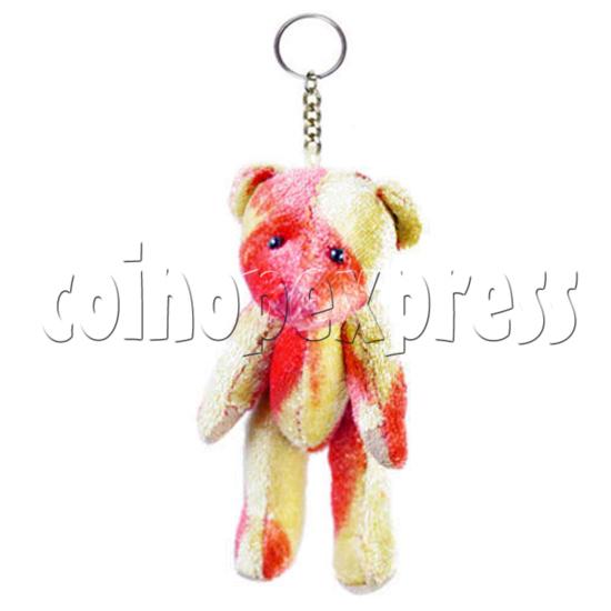 """3"""" Coloured Patchwork Teddy Bear 10697"""