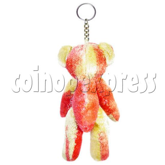 """3"""" Coloured Patchwork Teddy Bear 10698"""
