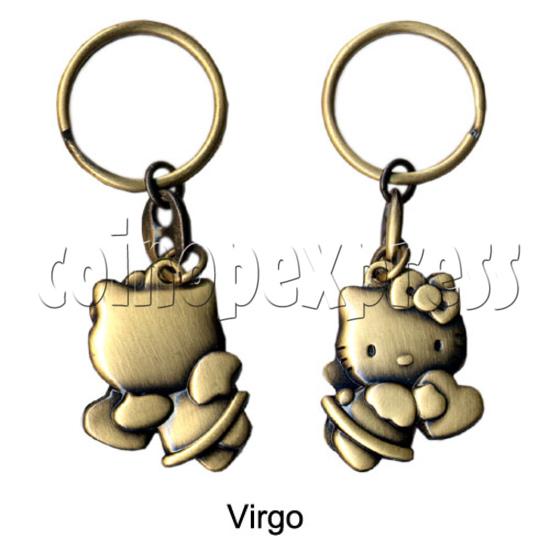 Twelve Horoscope Copper Key Rings 10990