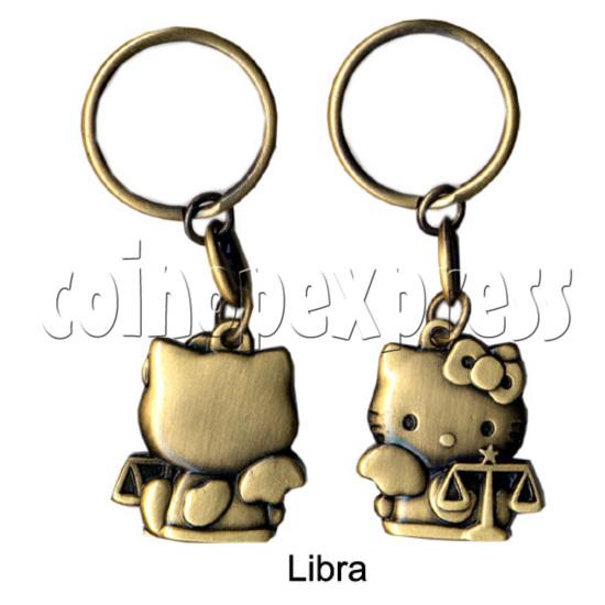 Twelve Horoscope Copper Key Rings 10998