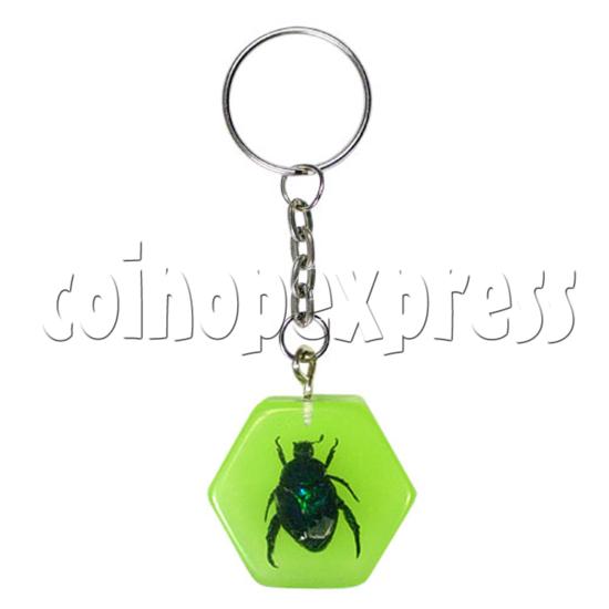 Fluorescence platic stone Key Rings 12318