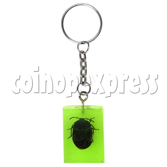 Fluorescence platic stone Key Rings 12319