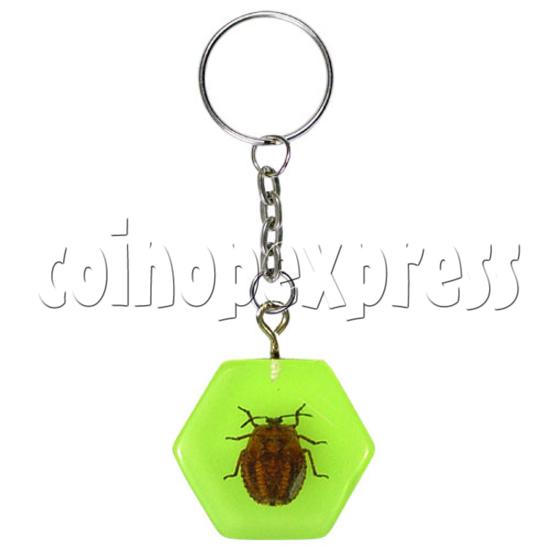 Fluorescence platic stone Key Rings 12320