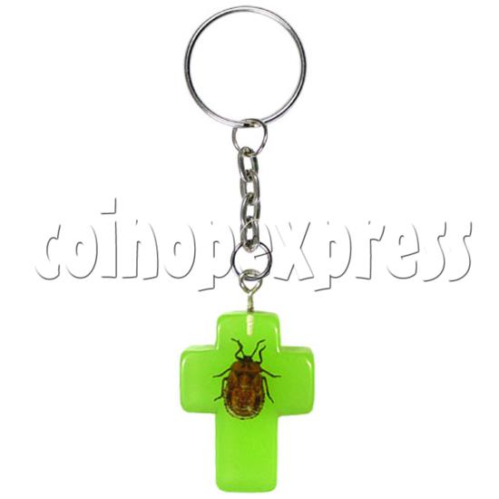 Fluorescence platic stone Key Rings 12321