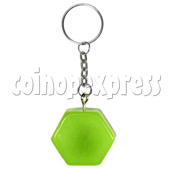 Fluorescence platic stone Key Rings 12323