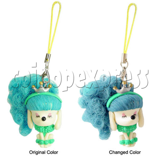Color Hair changing Cell Phone Strap 12453