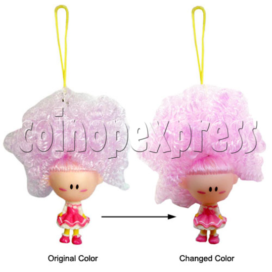 Coloring Hair & Flashing Cellular phone Strap 12471