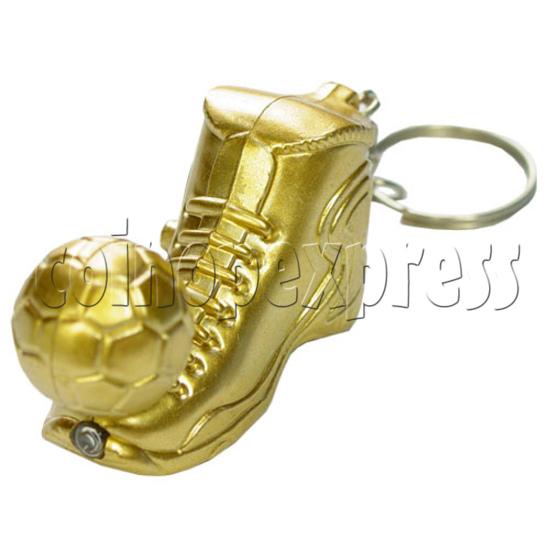 Golden Boot Light Up Key Rings 12509