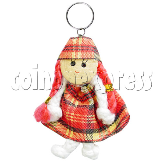 Fabric Girl Key Rings 12618