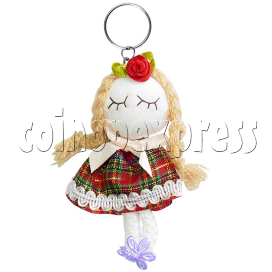 Fabric Girl Key Rings 12619