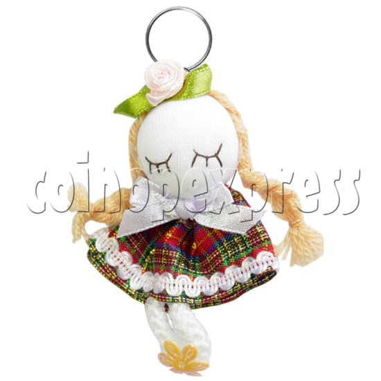 Fabric Girl Key Rings 12620