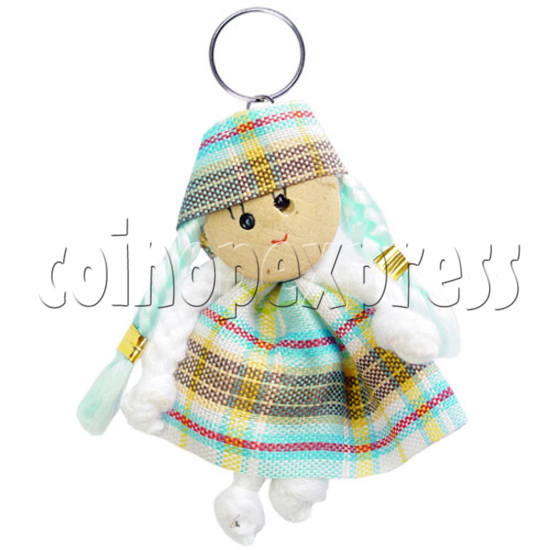 Fabric Girl Key Rings 12623