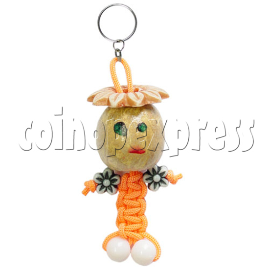 Fabric Girl Key Rings 12629