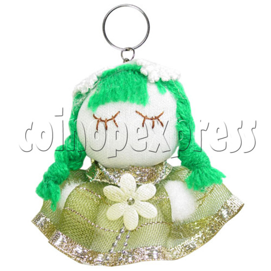 Fabric Girl Key Rings 12630