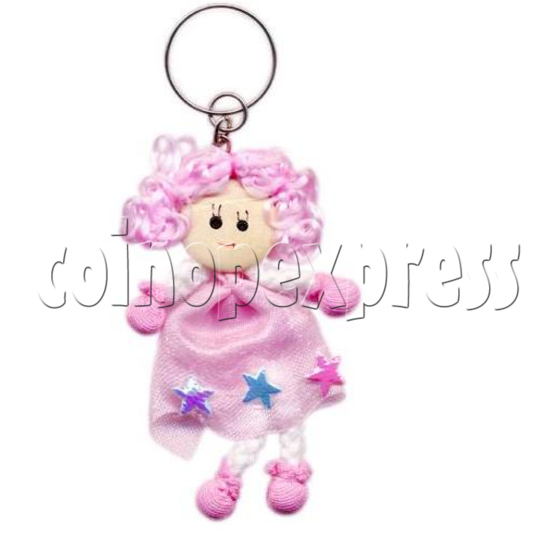 Fabric Girl Key Rings 12719