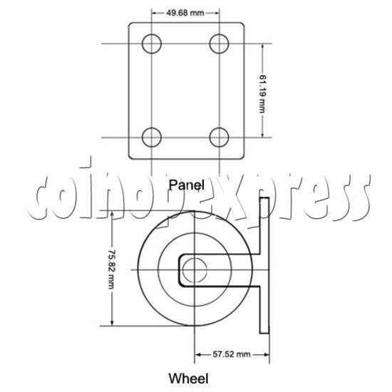 """3"""" Heavy duty Nylon Wheel 12813"""