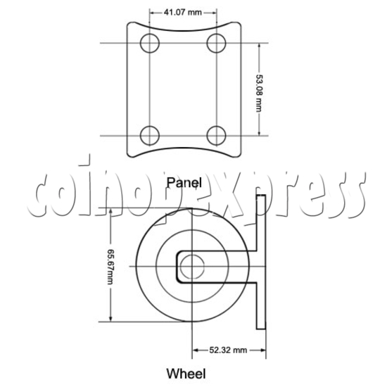 "2.5"" Light Duty Nylon Wheel 12821"
