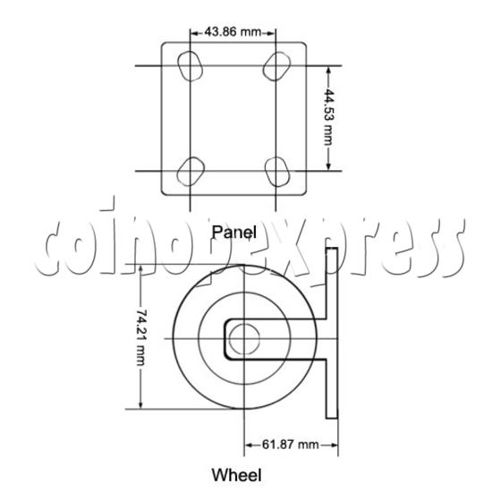 "3"" Heavy Duty Nylon Wheel (without brake) 12883"