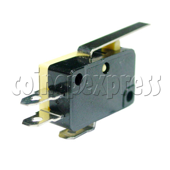 Yellow Microswitch with Auxiliary Actuator 13389